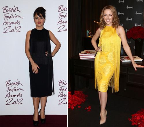 Salma Hayek e Kylie Minogue