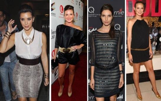 Kim Kardashian, Alicia Lagano, Theresa Moore e Heidi Klum